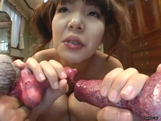 really hot petite brazilian banged by dog